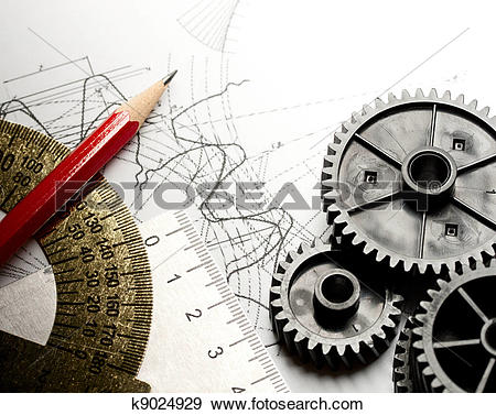 Stock Photograph of Mechanical ratchets and drafting k9024929.