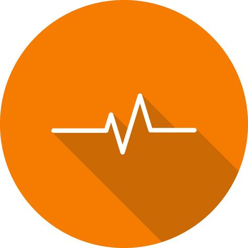 Vector Pulse Rate Icon.