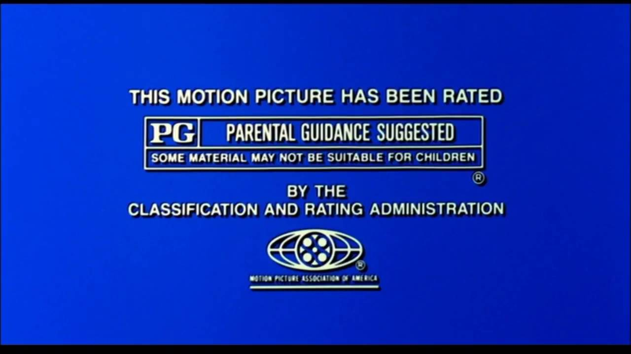 Rated PG MPAA Rating IDs logo (1982.