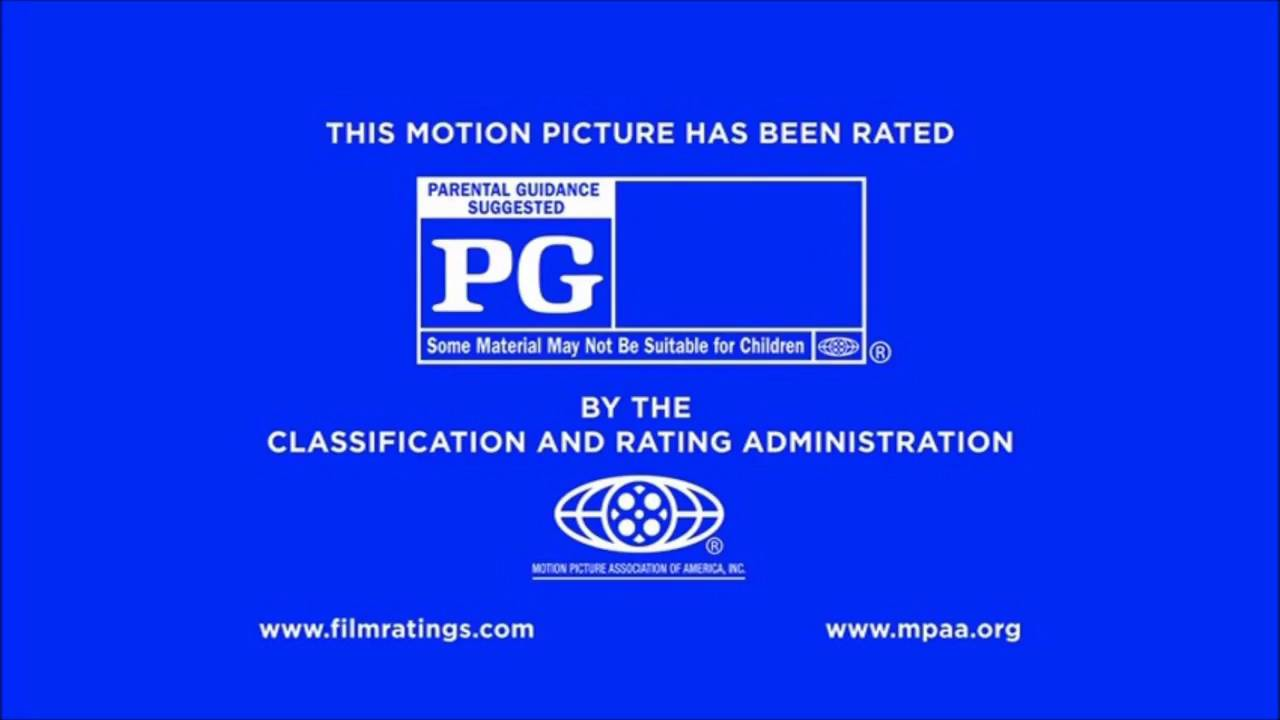 Rated PG MPAA Rating IDs logo (2013) Bumper.