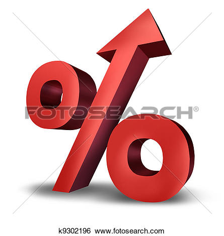 Stock Images of Rising Interest Rates k9302196.
