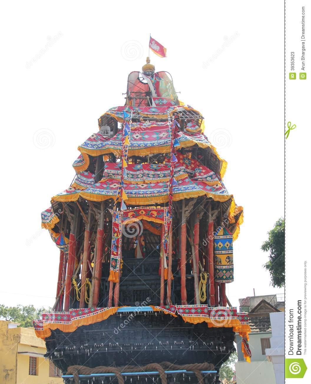 Rath Yatra Of Suchindram Festival Stock Photo.