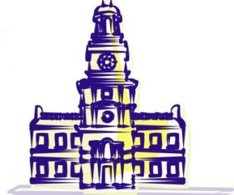 Independence Hall Clip Art.