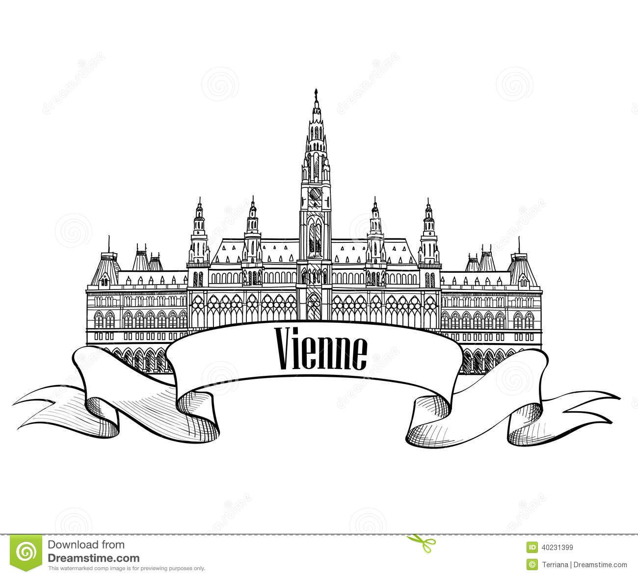 Rathaus Stock Illustrations.