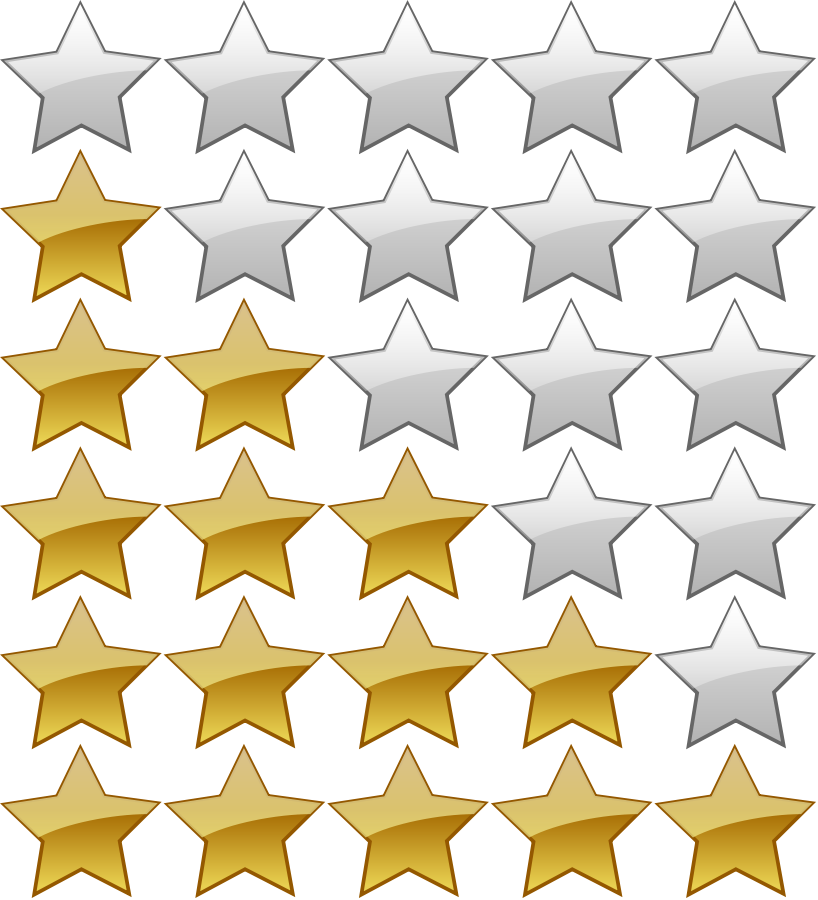 Star Rating Clipart Transparent.