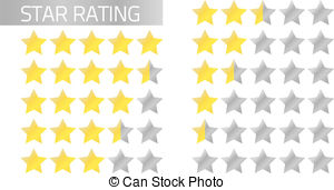 Star ratings clipart.