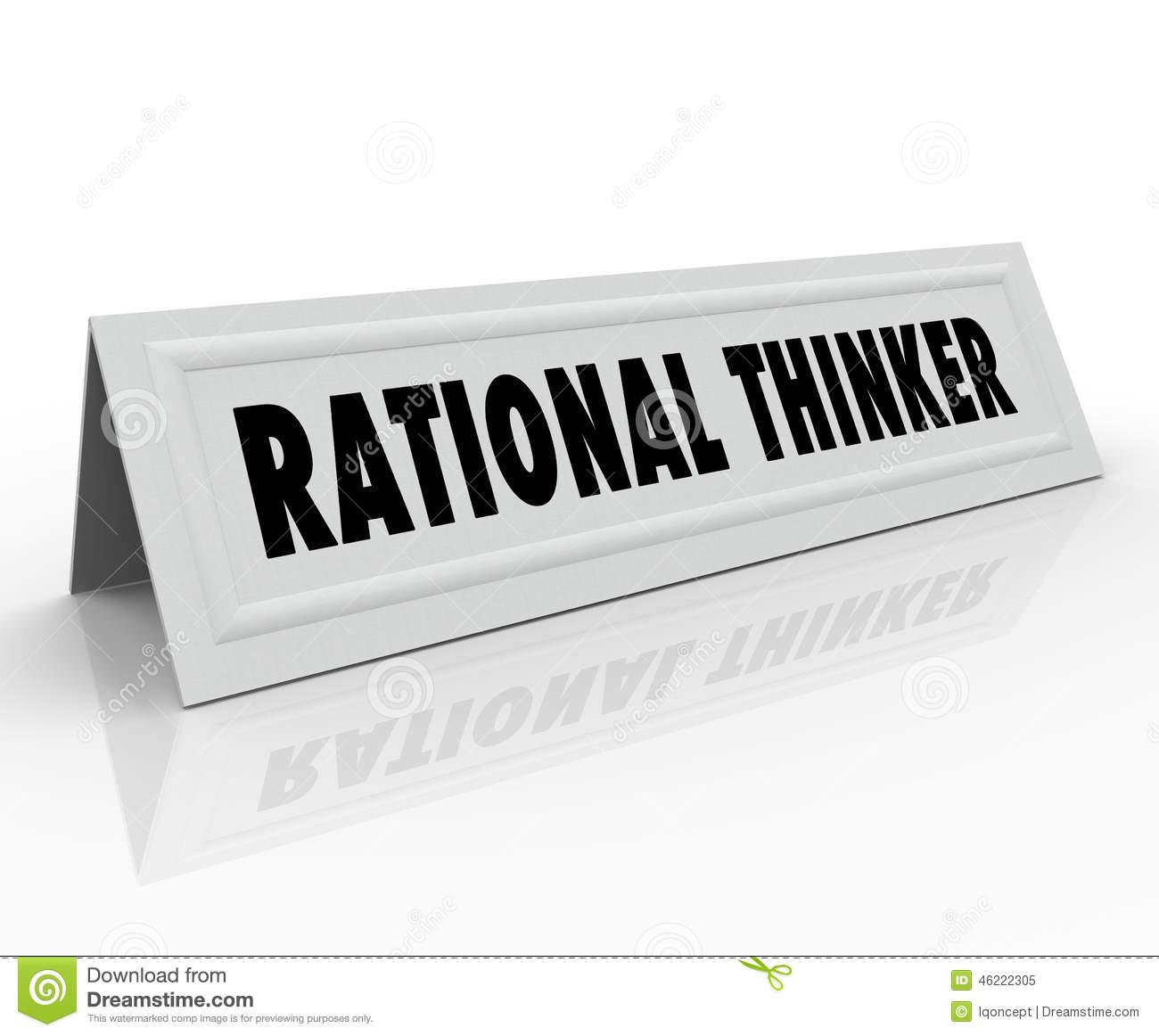 Rational Thinking Clip Art.