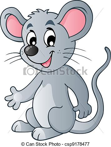 Vectors Illustration of Cute cartoon mouse.