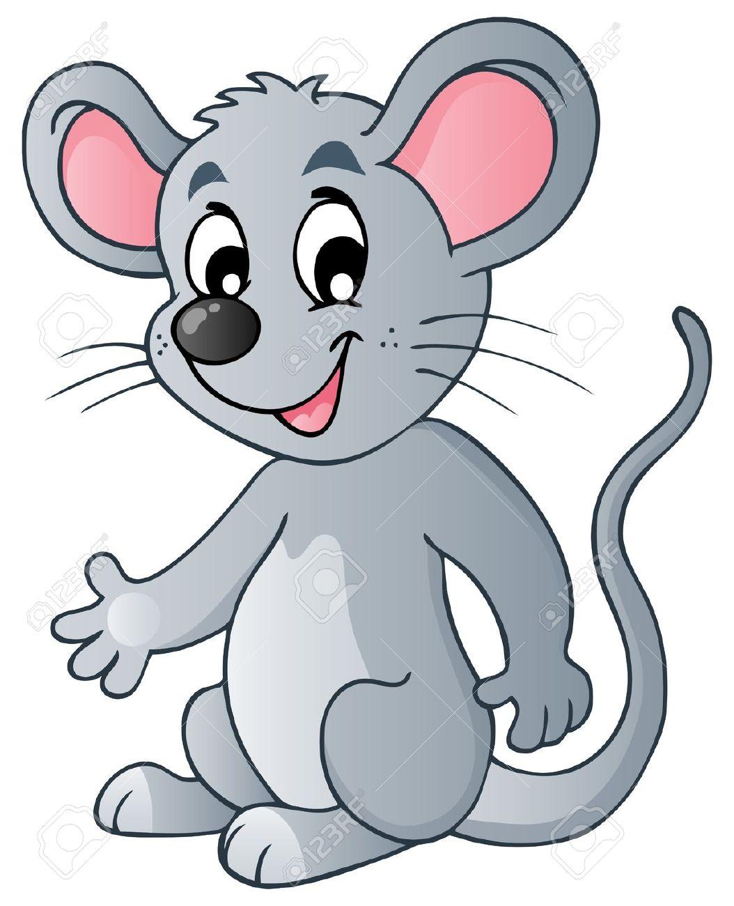 Cute Cartoon Mouse.