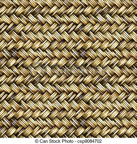 Clip Art of Basket Weave Seamless Pattern.