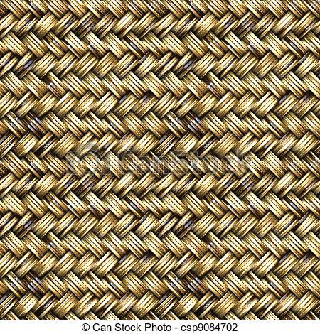 Clip Art of Basket Weave Seamless Pattern.