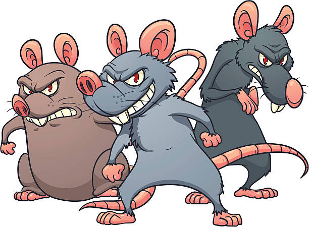 2212 Rat free clipart.
