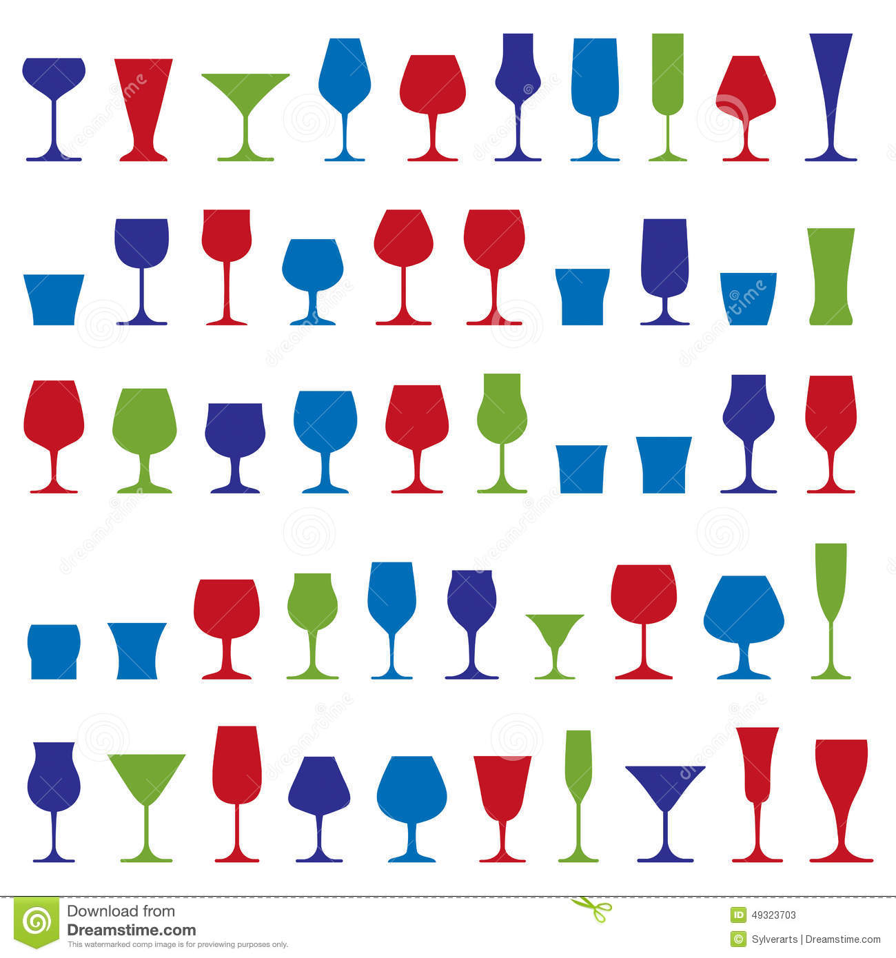 Decorative Drinking Glasses Collection. Set Of Celebration Goble.