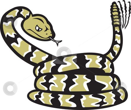 rattlesnake shilouettes and clip art.