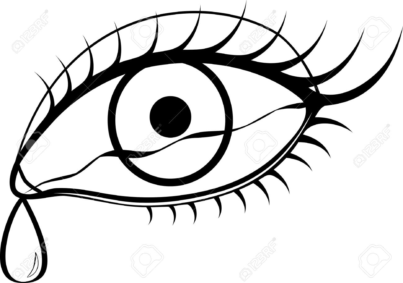 Clipart black and white rau eye.