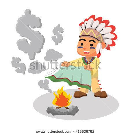 Indianer Rauch Stock Photos, Royalty.