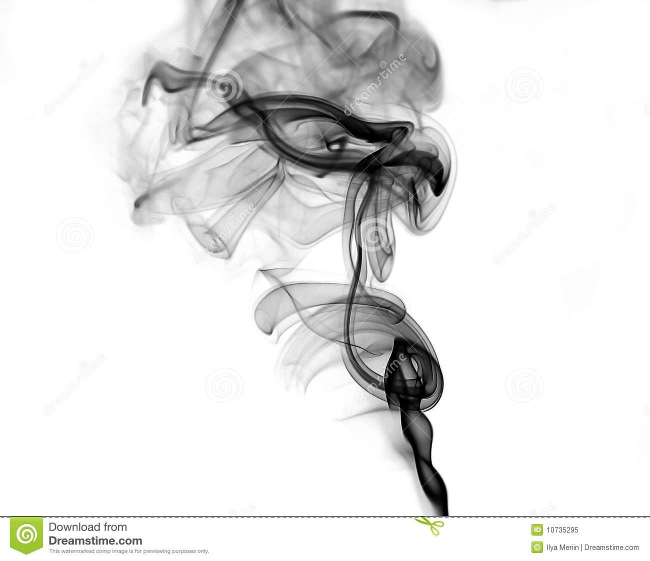 Black Cigarette Smoke Royalty Free Stock Images.