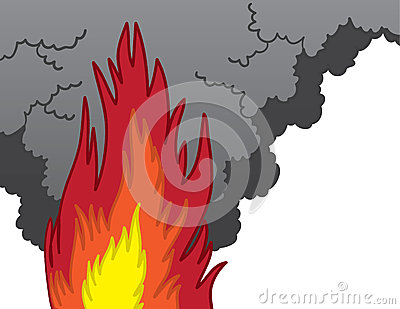 Spooky Flame Monster Cartoon Stock Images.