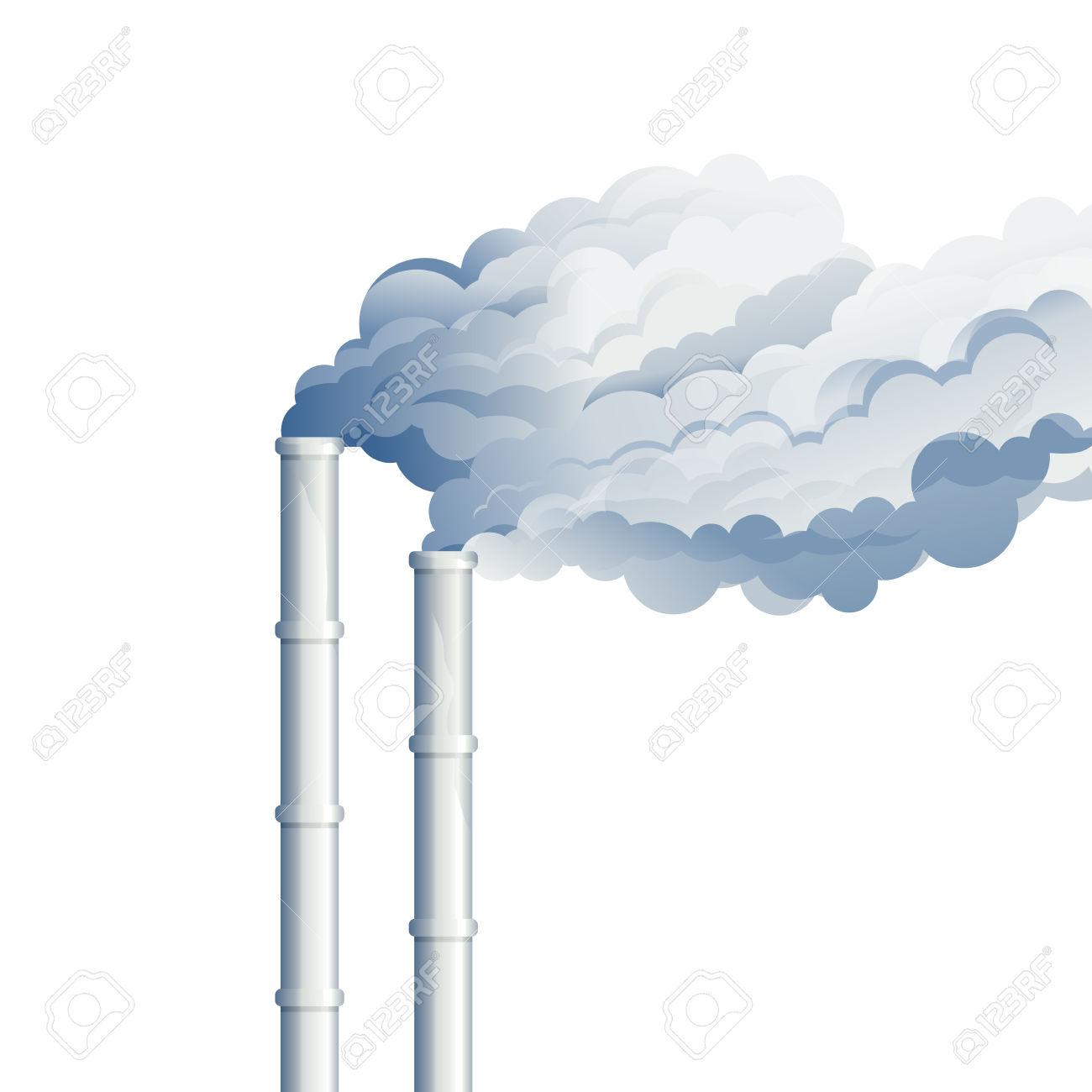 Industrieller Kamin Rauch, Umweltverschmutzung, Industrie Rauch.