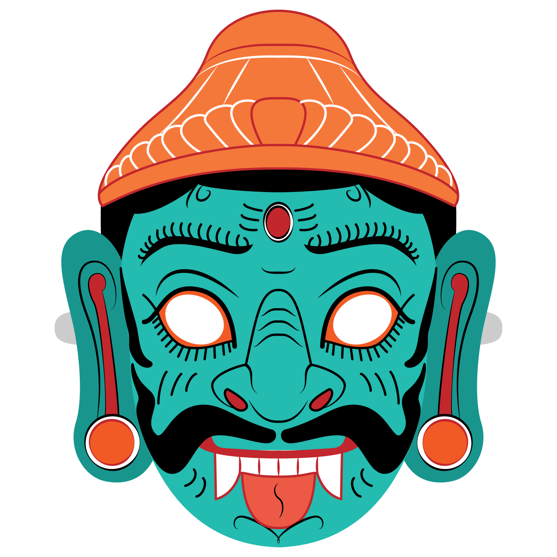 Ravana Mask Template.
