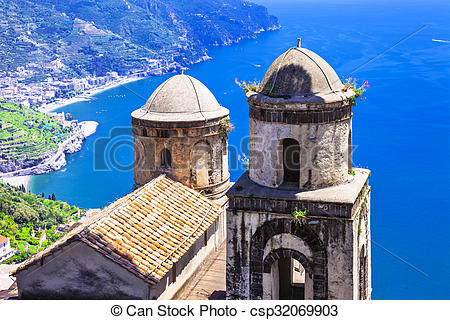 Stock Photography of beautiful scenery of Amalfi coast, Ravello.
