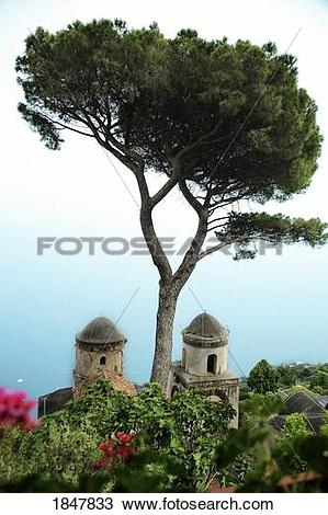 Stock Photo of Ravello, Campania, Italy; Building rooftop 1847833.