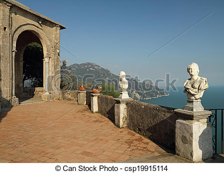 Stock Photography of Terrace of Infinity in Vila Cimbrone in.