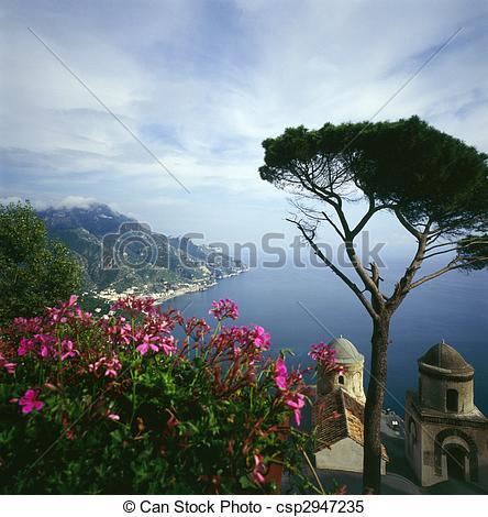 Stock Images of Ravello on Italian Coast csp2947235.