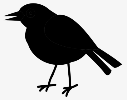 Free Raven Black And White Clip Art with No Background.