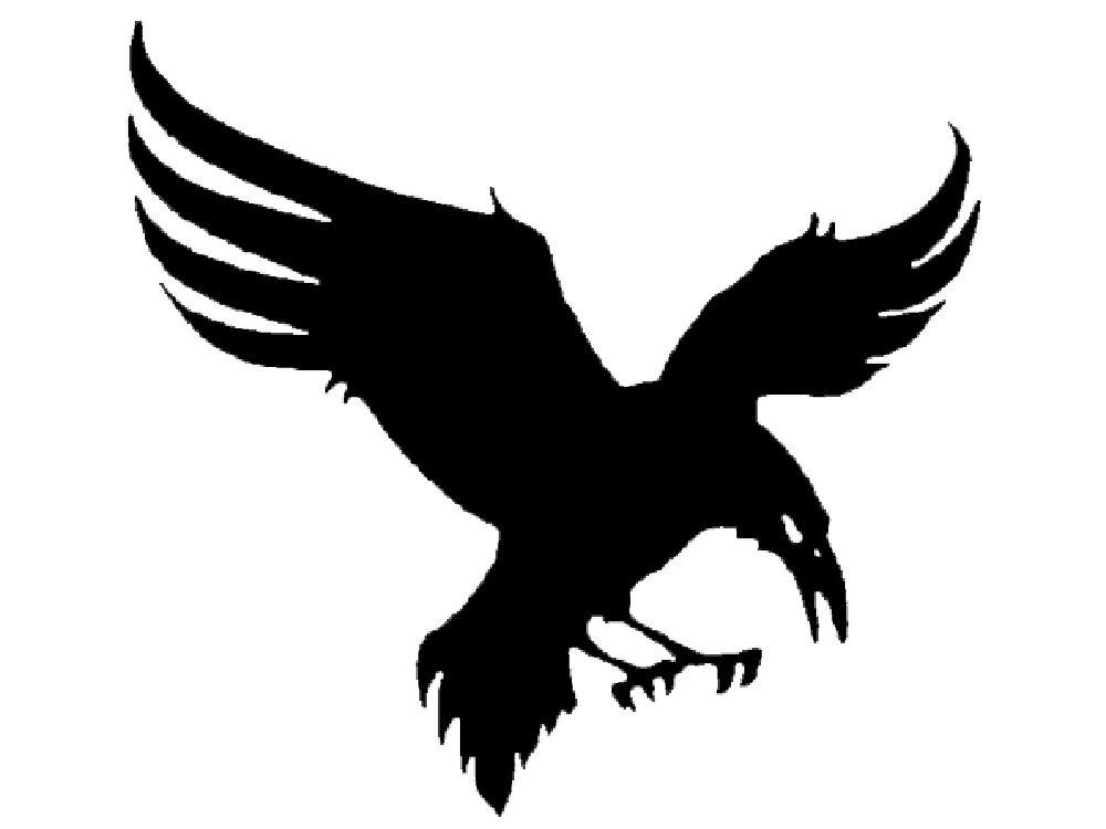 1248 Raven free clipart.