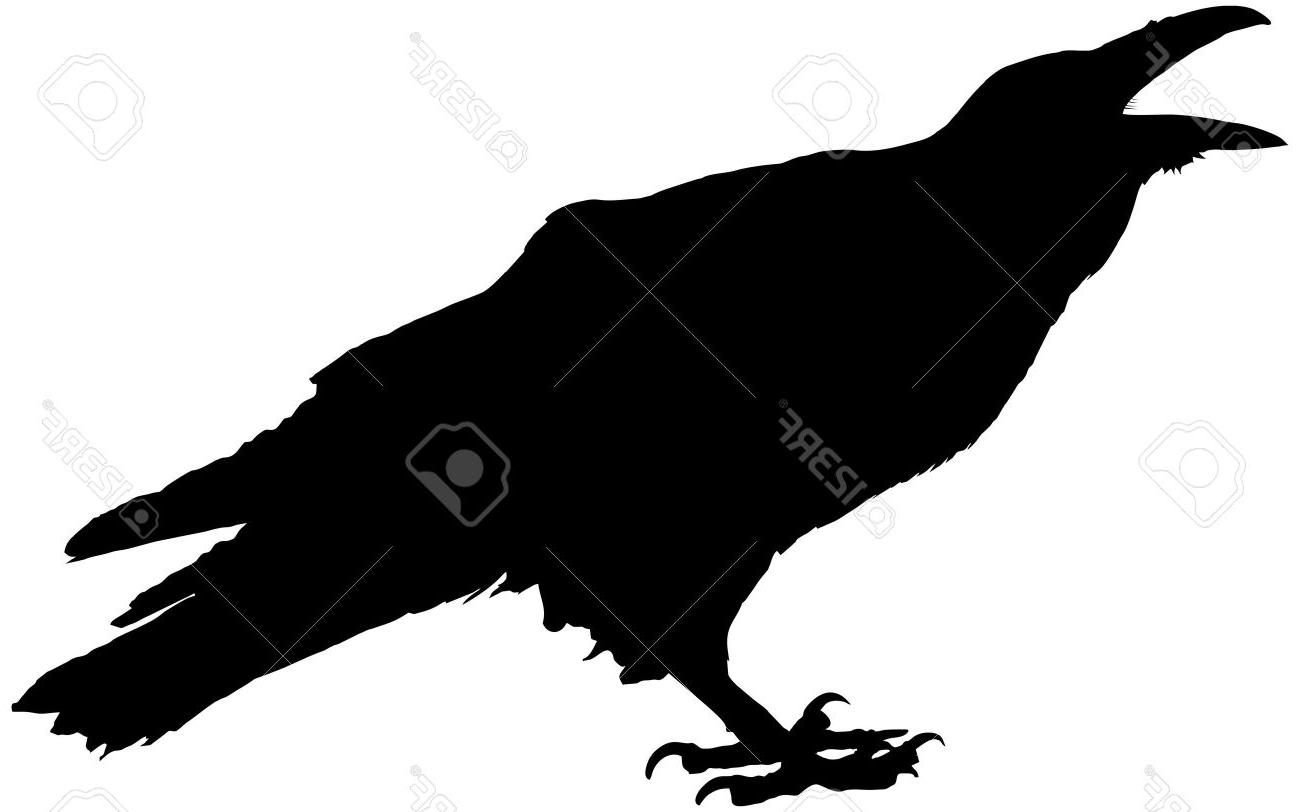 Best Raven Silhouette Vector Image » Free Vector Art, Images.