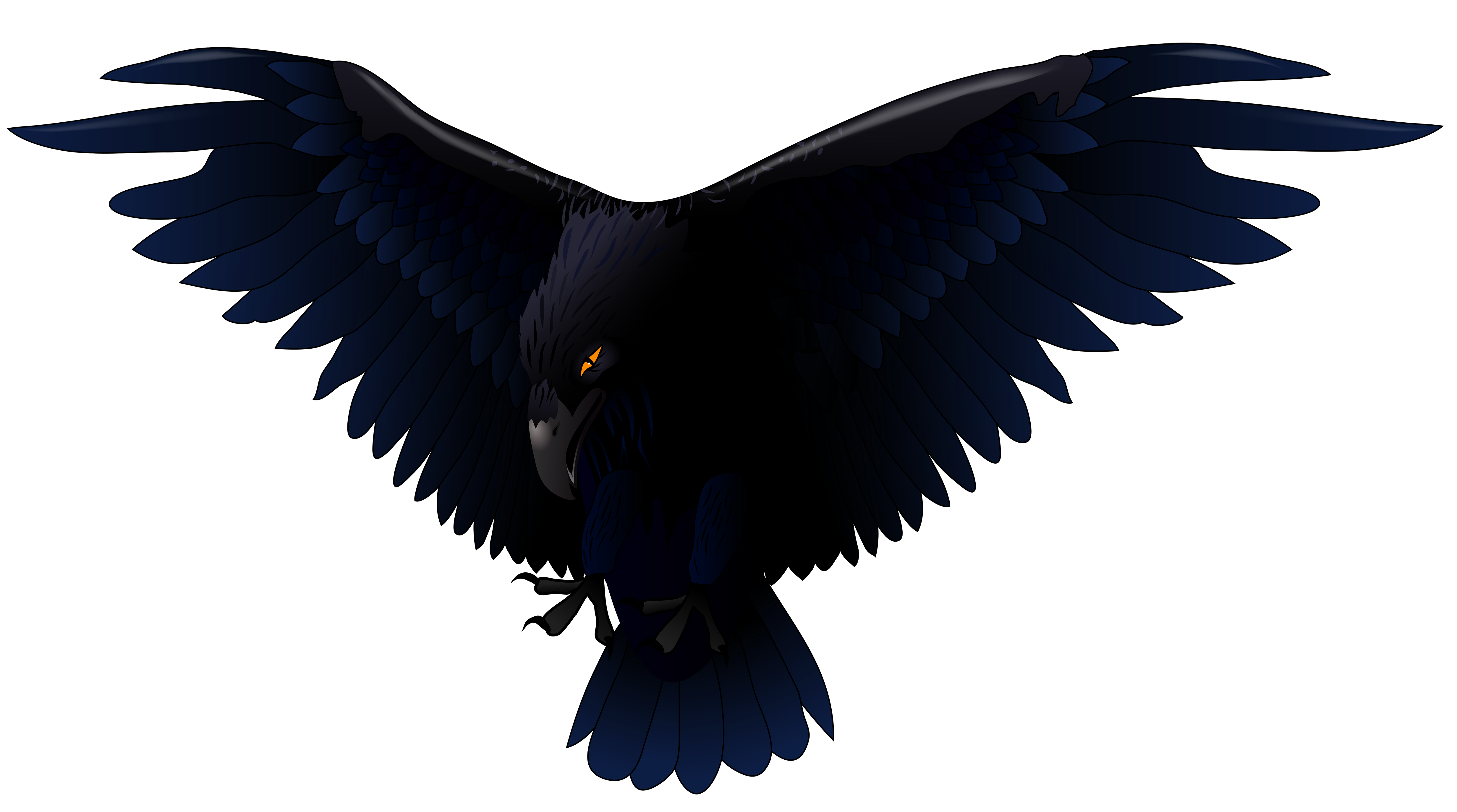 Scary Raven PNG Vector Clipart.