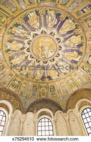 Stock Photography of Ceiling of the Baptistry of Neon, Ravenna.
