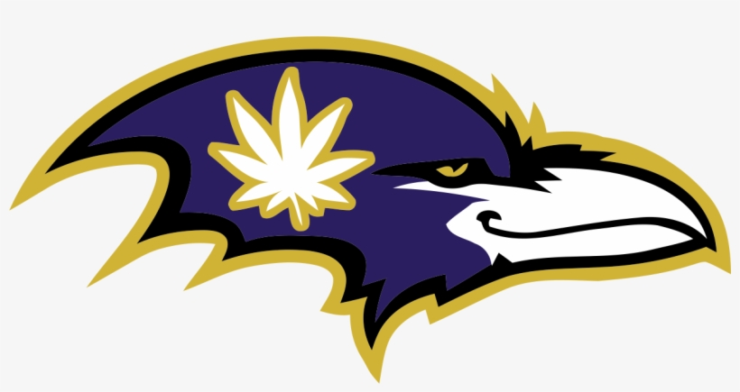 Baltimore Ravens Smoking Weed Logo Iron On Transfers.