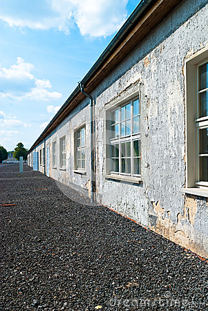Ravensbruck Concentration Camp Stock Photo.