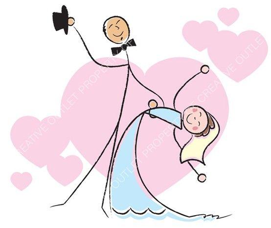 Wedding clip art from creativeoutlet.com.