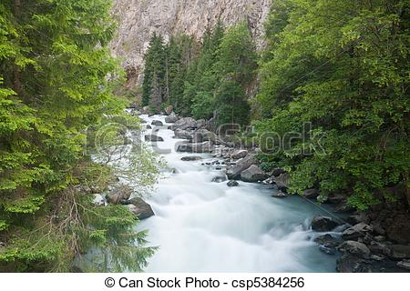 Stock Image of ravine in Verney Dora.