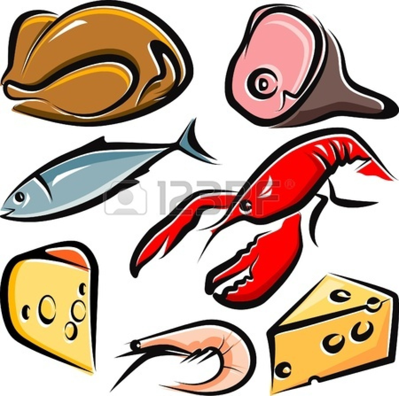 Raw Food Clipart.