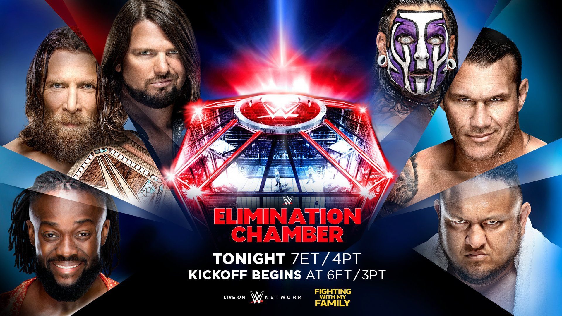 Full Elimination Chamber 2019 match card, previews and start.