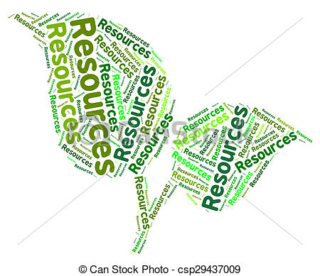 Stock Illustration of Natural Resources Represents Raw Materials.