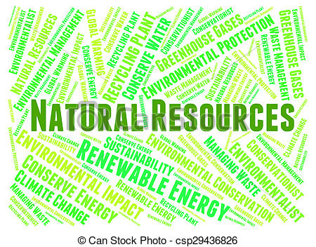 Clip Art of Natural Resources Represents Raw Material And Gas.