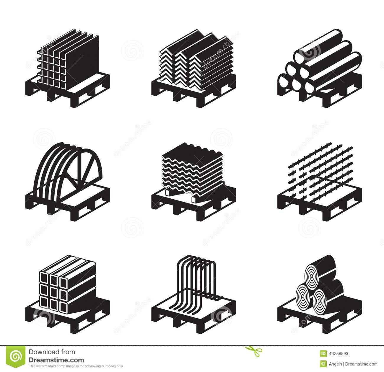 Raw material clipart.