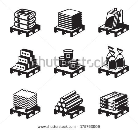 Raw Materials Pile Clipart.