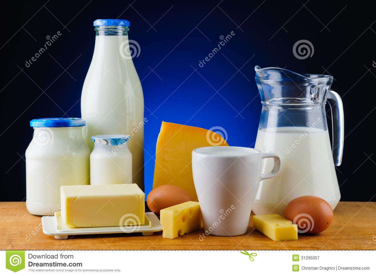 Dairy Products Royalty Free Stock Photography.