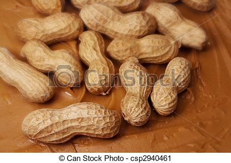 Stock Photography of Raw Peanuts in Peanut Butter.