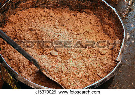Stock Image of Raw Peanut Butter before Oil k15370025.