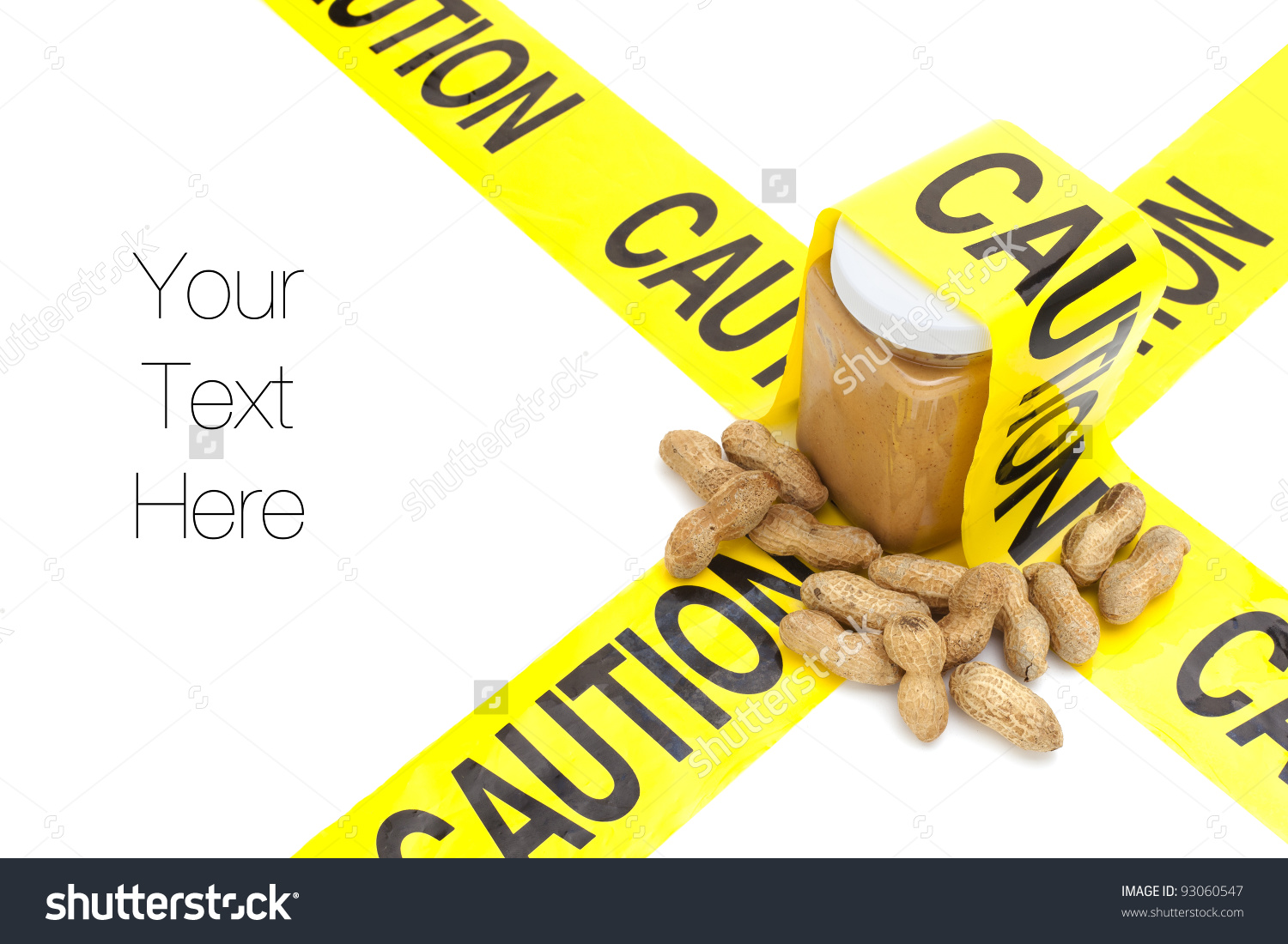 Allergic To Peanuts, Jar Of Peanut Butter With Raw Peanuts With.