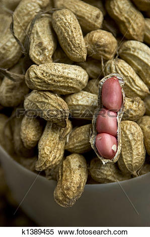 Stock Image of Raw peanuts for sale in market, Tagaytay City.
