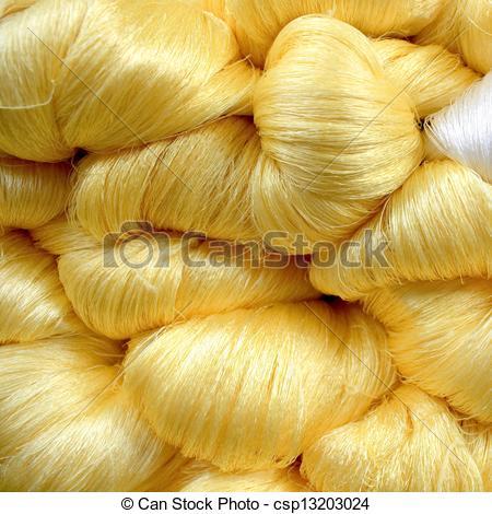 Stock Photo of Silk thread.