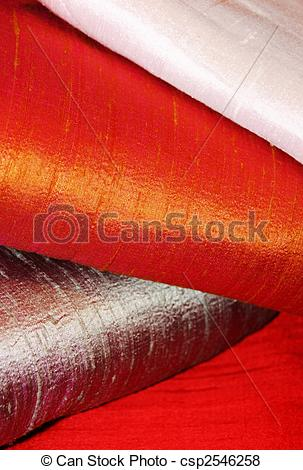 Pictures of raw silk fabric.